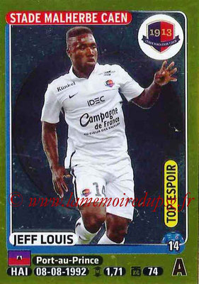 2015-16 - Panini Ligue 1 Stickers - N° 115 - Jeff LOUIS (SM Caen) (Top espoir)