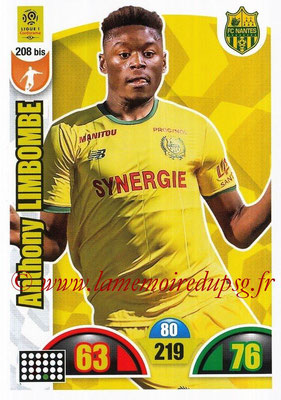 2018-19 - Panini Adrenalyn XL Ligue 1 - N° 208 bis - Anthony LIMBOMBE (Nantes)