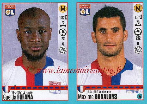 2016-17 - Panini Ligue 1 Stickers - N° 368 + 369 - Gueïda FOFANA + Maxime GONALONS (Lyon)