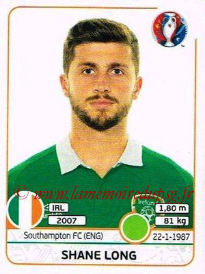 Panini Euro 2016 Stickers - N° 535 - Shane LONG (République d'Irlande)
