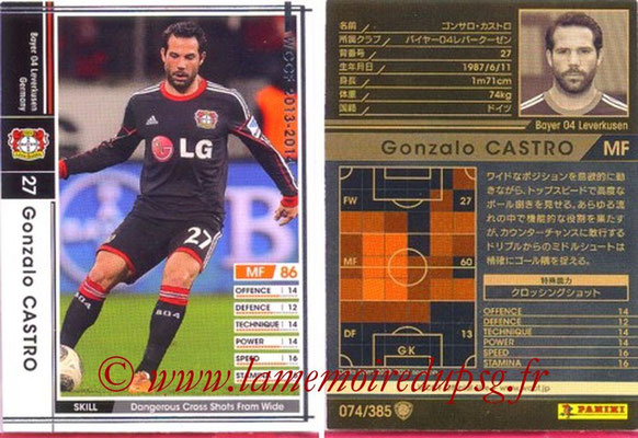 2013-14 - WCCF - N° 074 - Gonzato CASTRO (Bayer 04 Leverkusen)