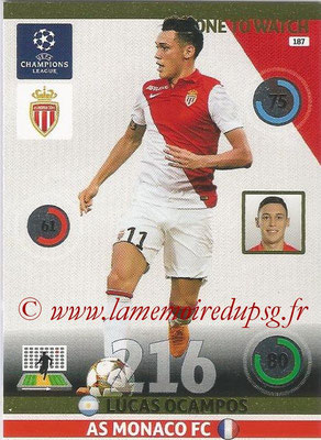2014-15 - Adrenalyn XL champions League N° 187 - Lucas OCAMPO (AS Monaco) (One to watch)