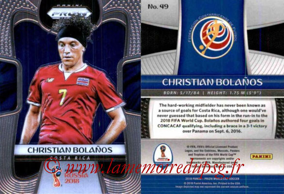 2018 - Panini Prizm FIFA World Cup Russia - N° 049 - Christin BOLANOS (Costa Rica)
