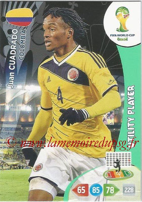 2014 - Panini FIFA World Cup Brazil Adrenalyn XL - N° 083 - Juan CUADRADO (Colombie) (Utility Player)