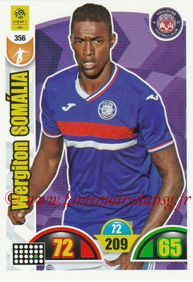 2018-19 - Panini Adrenalyn XL Ligue 1 - N° 356 - Wergiton SOMALIA (Toulouse)