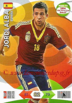 2014 - Panini Road to FIFA World Cup Brazil Adrenalyn XL - N° 075 - Jordi ALBA (Espagne)