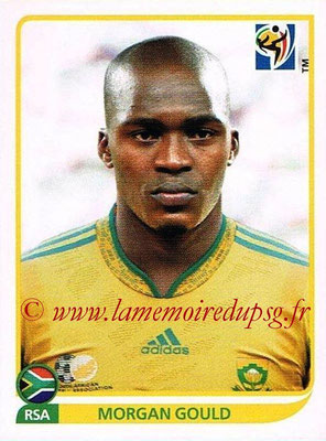 2010 - Panini FIFA World Cup South Africa Stickers - N° 036 - Morgan GOULD (Afrique du Sud)
