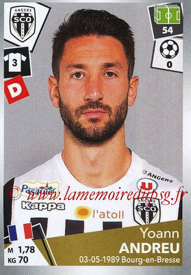 2017-18 - Panini Ligue 1 Stickers - N° 028 - Yoann ANDREU (Angers)