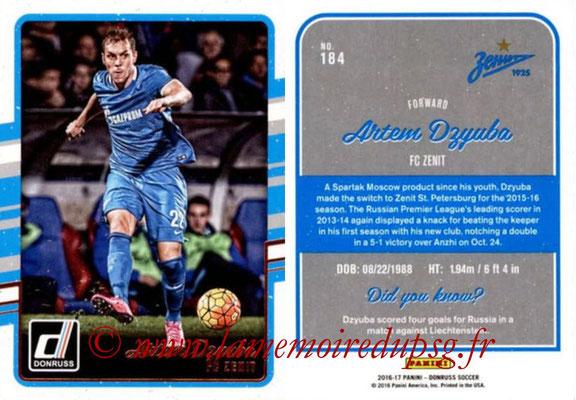 2016 - Panini Donruss Cards - N° 184 - Artem DZYUBA (FC Zenit)