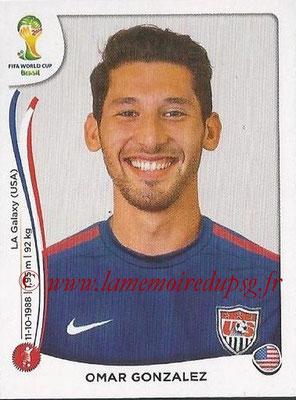 2014 - Panini FIFA World Cup Brazil Stickers - N° 549 - Omar GONZALEZ (Etats-Unis)