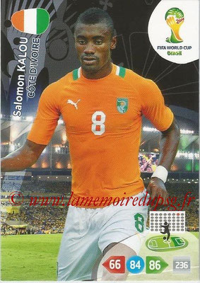 2014 - Panini FIFA World Cup Brazil Adrenalyn XL - N° 101 - Salomon KALOU (Côte d'Ivoire)
