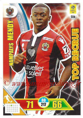 2017-18 - Panini Adrenalyn XL Ligue 1 - N° 506 - Mampalys MENDY (Nice) (Top Recrue)