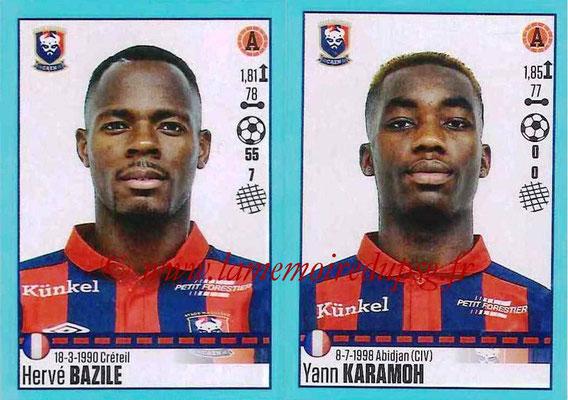 2016-17 - Panini Ligue 1 Stickers - N° 164 + 165 - Hervé BAZILE + Yann KARAMOH (Caen)