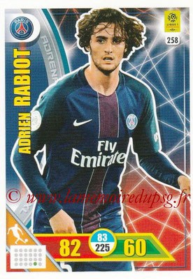 2017-18 - Panini Adrenalyn XL Ligue 1 - N° 258 - Adrien RABIOT (Paris Saint-Germain)