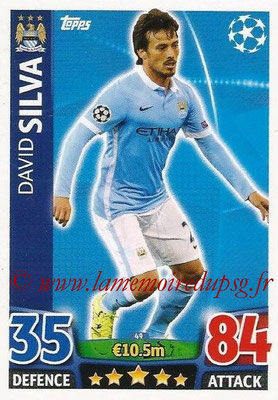 2015-16 - Topps UEFA Champions League Match Attax - N° 049 - David SILVA (Manchester City FC)