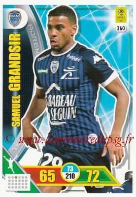 2017-18 - Panini Adrenalyn XL Ligue 1 - N° 360 - Samuel GRANDSIR (Troyes)