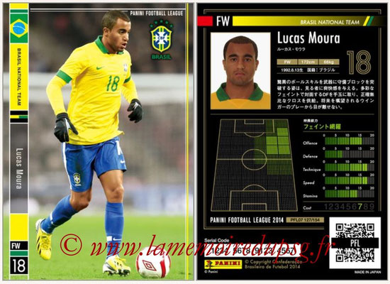 Panini Football League 2014 - PFL07 - N° 127 - Lucas MOURA (Bresil)