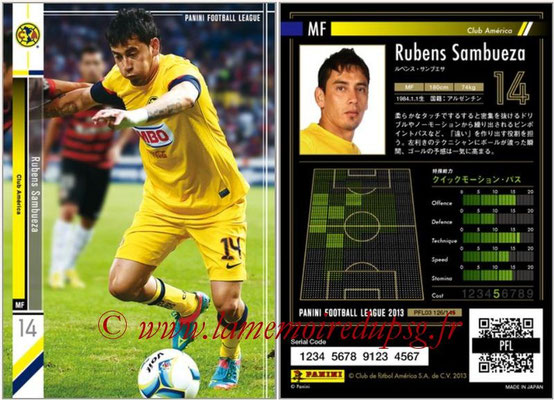 Panini Football League 2013 - PFL03 - N° 126 - Rubens Sambueza (Club America)