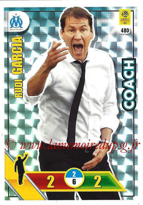2017-18 - Panini Adrenalyn XL Ligue 1 - N° 480 - Rudi GARCIA (Marseille) (Coach)