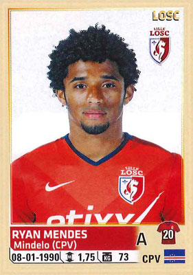 2014-15 - Panini Ligue 1 Stickers - N° 164 - Ryan MENDES (Lille OSC)