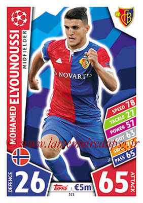 2017-18 - Topps UEFA Champions League Match Attax - N° 321 - Mohamed ELYOUNOUSSI (FC Bâle)