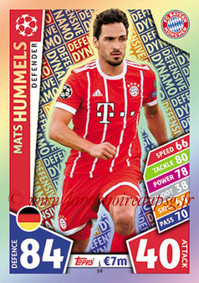 2017-18 - Topps UEFA Champions League Match Attax - N° 059 - Mats HUMMELS (FC Bayern Munich) (Defensive Dynamo)