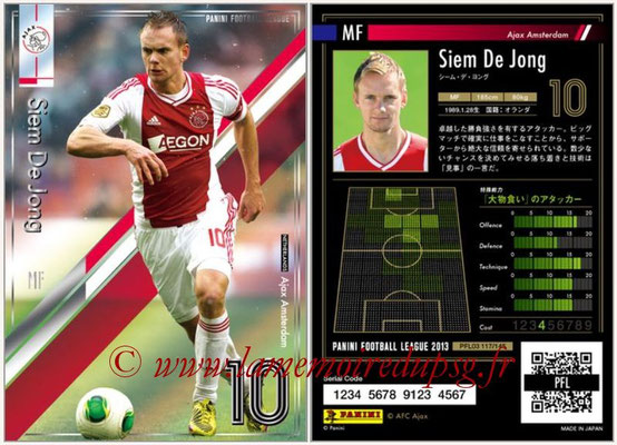 Panini Football League 2013 - PFL03 - N° 117 - Siem De Jong (Ajax Amsterdam)