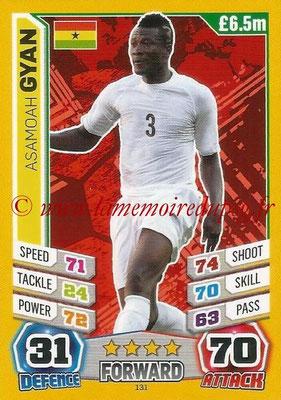 Topps Match Attax England 2014 - N° 131 - Asamoah GYAN (Ghana)