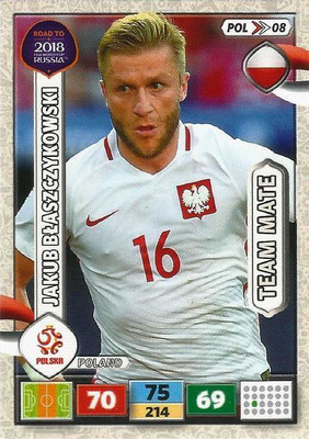 2018 - Panini Road to FIFA World Cup Russia Adrenalyn XL - N° POL08 - Jacob BLASZCZYKOWSKI (Pologne)