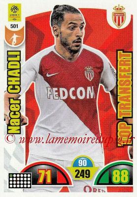 2018-19 - Panini Adrenalyn XL Ligue 1 - N° 501 - Nacer CHADLI (Monaco) (Top Transfert)