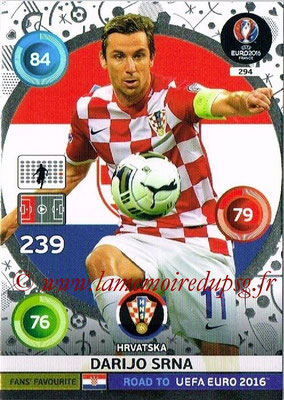Panini Road to Euro 2016 Cards - N° 294 - Darija SRNA (Croatie) (Fans' Favorite)