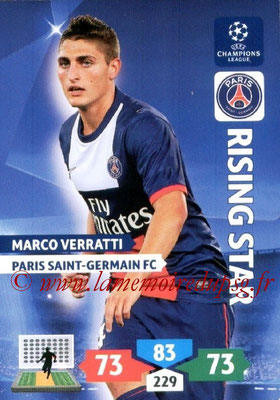 2013-14 - Adrenalyn XL champions League N° 230 - Marco VERRATTI (Paris Saint-Germain) (Rising star)