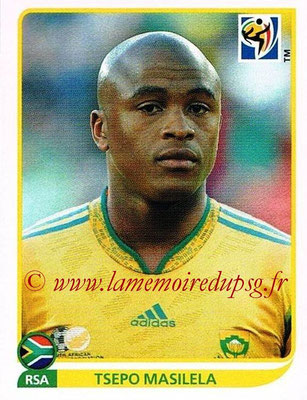 2010 - Panini FIFA World Cup South Africa Stickers - N° 034 - Tsepo MASILELA (Afrique du Sud)