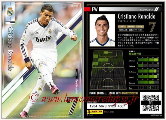 Panini Football League 2013 - PFL04 - N° 047 - Cristiano RONALDO (Real Madrid)