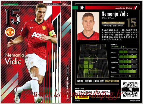 Panini Football League 2013 - PFL02 - N° 135 - Nemanja Vidic ( Manchester United  ) (Super DF)