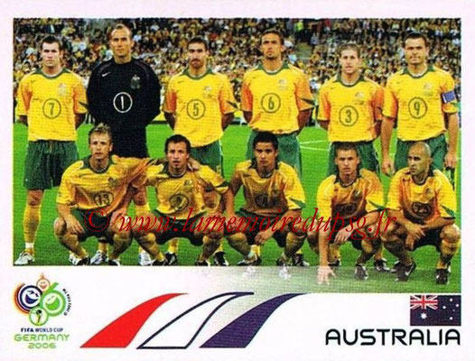 2006 - Panini FIFA World Cup Germany Stickers - N° 416 - Équipe Australie
