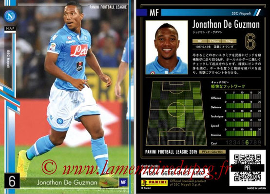 Panini Football League 2015 - PFL11 - N° 023 - Jonathan DE GUZMAN (SSC Naples)