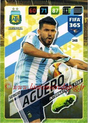 2017-18 - Panini FIFA 365 Cards - N° 348 - Sergio AGÜERO (Argentine) (International Star)
