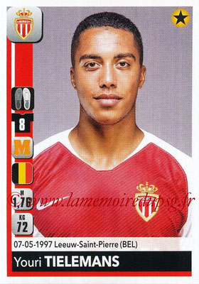 2018-19 - Panini Ligue 1 Stickers - N° 240 - Youri TIELEMANS (Monaco)