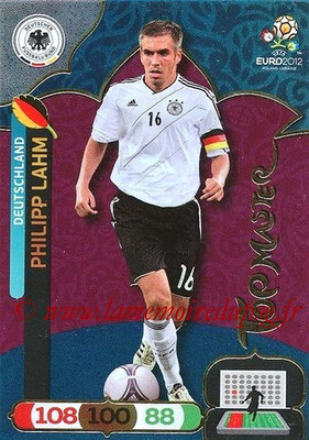 Panini Euro 2012 Cards Adrenalyn XL - N° 301 - Philipp LAHM (Allemagne) (Top Master)