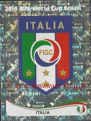 2014 - Panini FIFA World Cup Brazil Stickers - N° 317 - Ecusson Italie