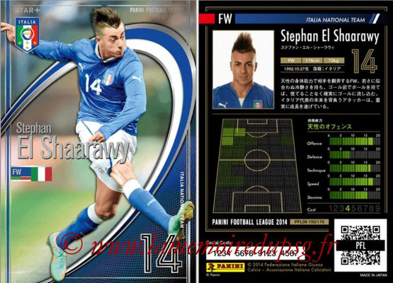 Panini Football League 2014 - PFL08 - N° 150 - Stephan EL SHAARAWY (Italie) (Star +)