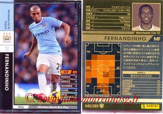 2013-14 - WCCF - N° 040 - FERNANDINHO (Manchester City FC)