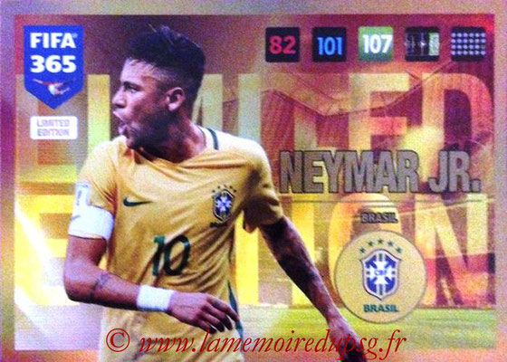 2016-17 - Panini Adrenalyn XL FIFA 365 - N° LE59 - NEYMAR Jr. (Bresil) (Limited Edition)
