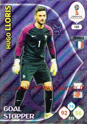 2018 - Panini FIFA World Cup Russia Adrenalyn XL - N° 411 - Hugo LLORIS (France) (Goal Stopper)