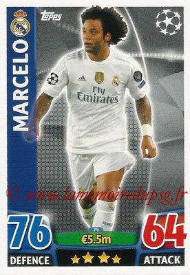 2015-16 - Topps UEFA Champions League Match Attax - N° 074 - MARCELO (Real Madrid CF)