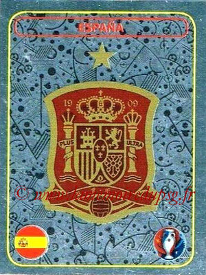 Panini Euro 2016 Stickers - N° 346 - Logo Espagne