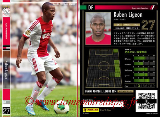 Panini Football League 2014 - PFL06 - N° 108 - Ruben LIGEON (Ajax Amsterdam)