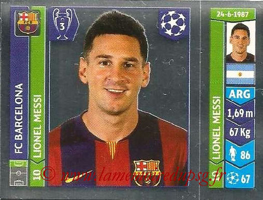 2014-15 - Panini Champions League N° 426 - Lionel MESSI (FC Barcelone)