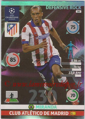 2014-15 - Adrenalyn XL champions League N° 283 - MIRANDA (Club Atletico de Madrid) (Defensive Rock)